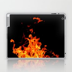 Fire Element Flames Bold Orange Red Yellow Brilliant Color Modern Art Photography Laptop & iPad Skin