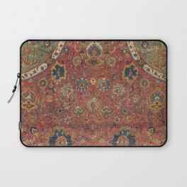 Persian Medallion Rug IV // 16th Century Distressed Red Green Blue Flowery Colorful Ornate Pattern Laptop Sleeve