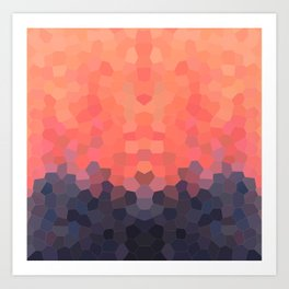 Geometric Abstract Mountain Sunset Art Print