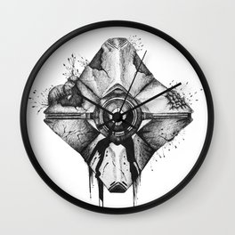 Decaying Ghost Shell Wall Clock