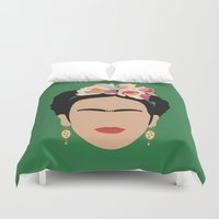 frida Duvet Covers featuring frida by Live It Up
