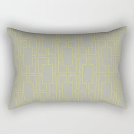 Simply Mid-Century Mod Yellow on Retro Gray Rectangular Pillow