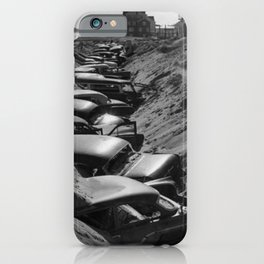 Cars Buried at Andrea Hotel - Misquemicut Beach, Westerly Rhode Island after 1954 Hurricane Carol iPhone Case