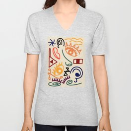 Tribal Anatomy Unisex V-Neck
