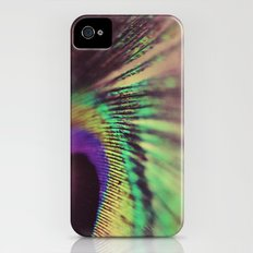Peacock feather macro iPhone (4, 4s) Slim Case