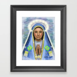 Our Lady of Aparecida ::: Nossa Senhora Aparecida Framed Art Print