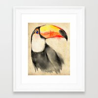 toucan Framed Art Prints featuring Toucan by akaori_art