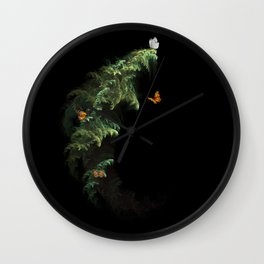 Woodland Butteflies Wall Clock