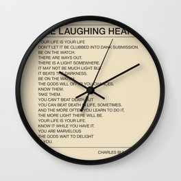 The Laughing Heart Wall Clock