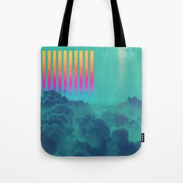 Striped sky Tote Bag
