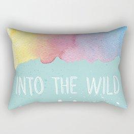 Into the Wild - Wild Heart Boho Watercolor Mountains Rectangular Pillow