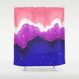 Genderfluid Pride Galaxy Shower Curtain