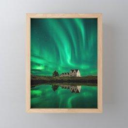 Northern Lights Framed Mini Art Print