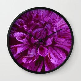 Violet Dahlia Wall Clock