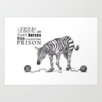 What if...?? Zebras are what?? Art Print