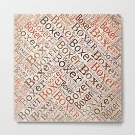 Boxer dog Word Art Metal Print