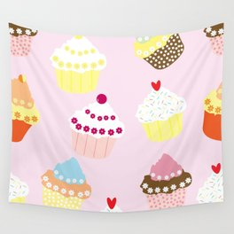 I Love Cupcakes Wall Tapestry