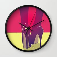 shoes Wall Clocks featuring Shoes by Giuseppe Cristiano