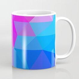 Magenta Blacklight Low Poly Coffee Mug