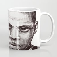 jay z Mugs featuring Jay by Daniel Hughes