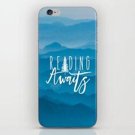 Reading Awaits - Blue Mountains iPhone Skin