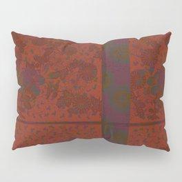 Caravans II:  Asian Print  Plum, gold, orange green origami textile floral design Pillow Sham