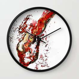 Colorful Wiggly Wobbly Wine Paintings by Drunk Girl Art Wall Clock