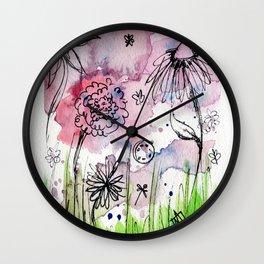 Flower Doodle 1 Wall Clock