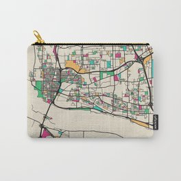 Colorful City Maps: Vancouver, Washington Carry-All Pouch