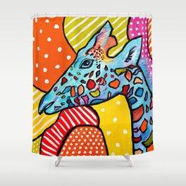 Colorful Giraffe Shower Curtain