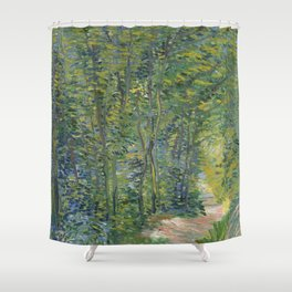 """Vincent Van Gogh """"Path in the Wood"""" Shower Curtain"""
