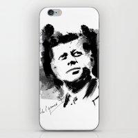 jfk iPhone & iPod Skins featuring John F. Kennedy JFK by viva la revolucion