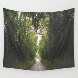 Irish Forest and Road Wall Tapestry