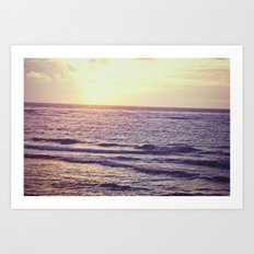 Sunrise Over Ocean Art Print