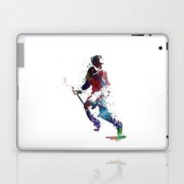 Lacrosse player art 3 Laptop & iPad Skin
