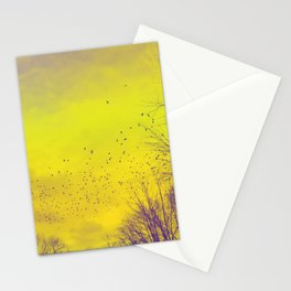 WARM TREES 1 _ keep the warm from the colors of fall Stationery Cards