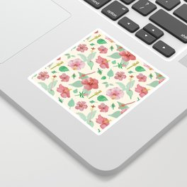 Hibiscus Pattern Sticker