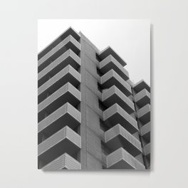 repeating concrete architecture Metal Print
