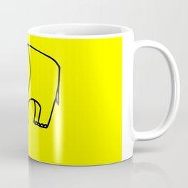 Elephant yellow Coffee Mug