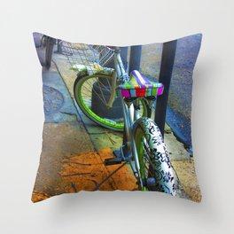 NOLA bike. Throw Pillow