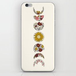 Floral Phases of the Moon iPhone Skin