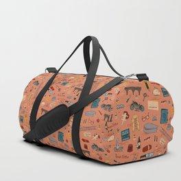 Budapest Hotel Plot Pattern Duffle Bag