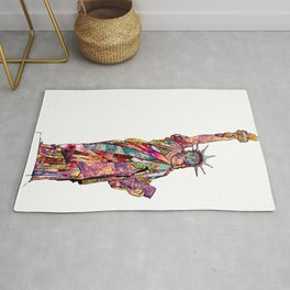 the french gift: statue of liberty Rug