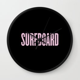 Surfboard Wall Clock
