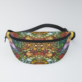 Multi Sphere Vector Pattern Fanny Pack