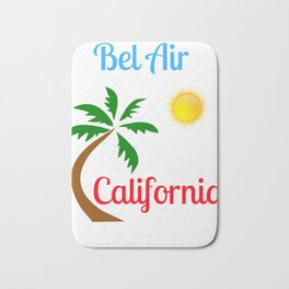 Bel Air California Palm Tree and Sun Bath Mat