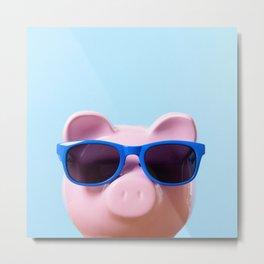 Pink Pig Metal Print
