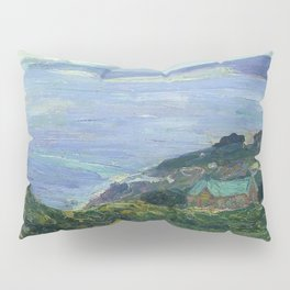 African American Masterpiece 'Coastal Landscape, France, 1912' by Henry Ossawa Tanner Pillow Sham