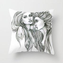 Gemini Mind Throw Pillow