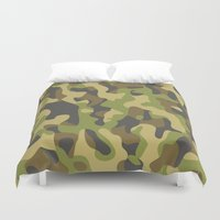 military Duvet Covers featuring Military Pattern by Crazy Thoom